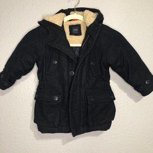 Baby Gap wool full zip navy winter jacket 3T